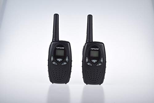 Topsung Walkie Talkies for Kids/Adults, FRS Two Way Radios Long Range, Walky Talky for Camping (Black)