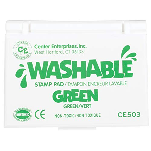 Ready 2 Learn Washable Stamp Pad - Green - Non-Toxic - Fade Resistant - Decorate Scrapbooks, Posters and Cards