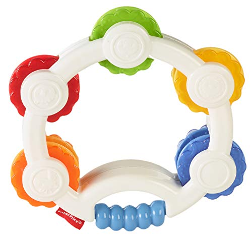 Fisher-Price Shake 'n Beats Tambourine Baby Rattle Toy