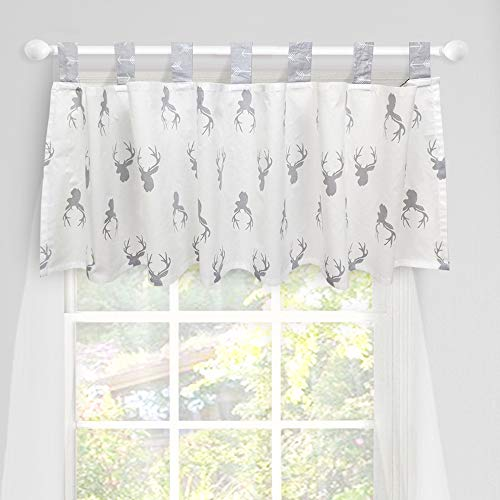 Brandream Window Valance Cotton Curtain for Baby/Toddler/Kid Bedroom Bath Laundry Living Room Decor, Woodland Deer Head Pattern
