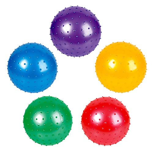 Rhode Island Novelty 7 Inch Knobby Balls Assorted Colors 12 Pack