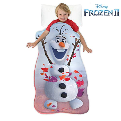 Blankie Tails | Disney Frozen Wearable Blanket - Frozen Disney Movie Double Sided Super Soft and Cozy Disney Blanket Minky Fleece Blanket (56'' H x 30' W (Kids Ages 5-12), Frozen 2 - Olaf)