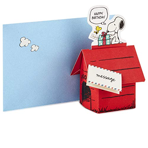 Hallmark Pop Up Peanuts Birthday Card (Snoopy Dog House)
