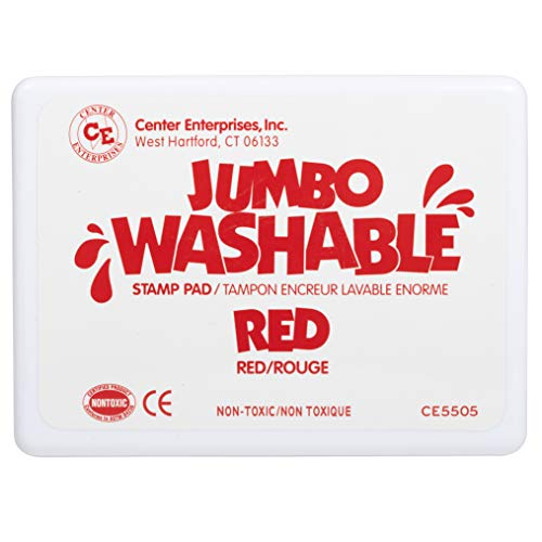 Center Enterprise CE5505 Jumbo Washable Stamp Pad, Red