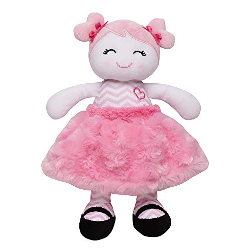 Baby Starters Plush Snuggle Buddy Baby Doll, Sugar N Spice Marisa with Chevron Stripes