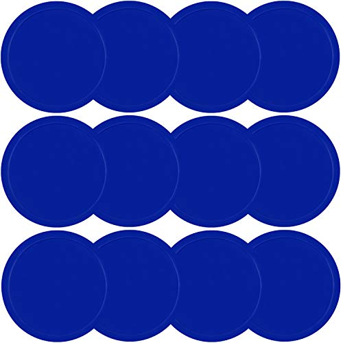 ONE250 3 1/4 inch Air Hockey Pucks, One Dozen Goal Full Size Packs Replacement Accessories for Game Tables (12 Pcs) (Blue)