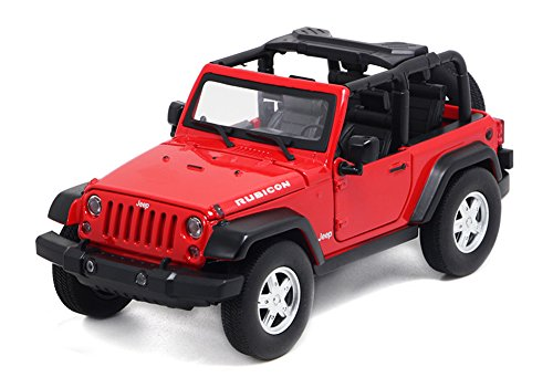 Berry President Alloy Car Model Vehicle Simulation Toy for Children 1:32 Scale Model Jeep Wrangler Car Electric Toy Sound & Light - Birthday (Red)
