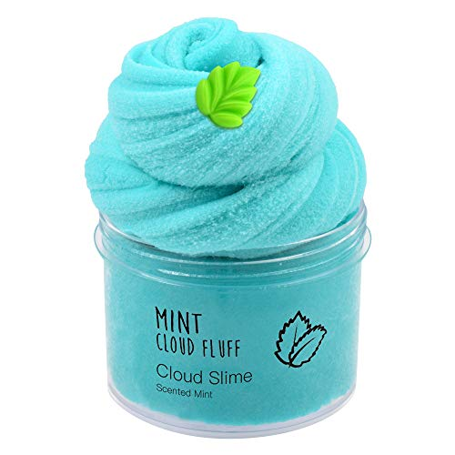 Happyforu Mint Green Cloud Slime Cotton Slime,Super Soft and Non-Sticky Slime for Boys and Girls(8oz 200ML)