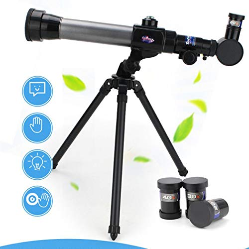 Eadear Children Practical Telescope Toy with 360 Degree Rotation Tripod Educational Toy Telescope Accessories