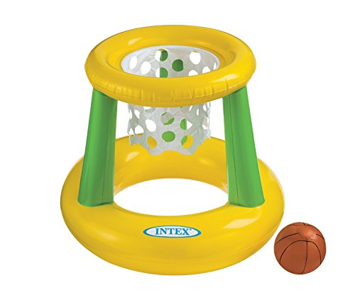 Intex - Floating Hoops 3, Incl Inflatable Pool Hoop and Basketball