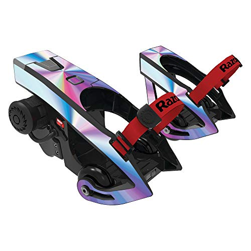 MightySkins Skin Compatible with Razor Turbo Jetts Electric Heel Wheels - Rainbow Zoom | Protective, Durable, and Unique Vinyl wrap Cover | Easy to Apply, Remove, and Change Styles | Made in The USA