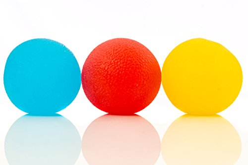 IMPRESA Stress Relief Balls (3-Pack) - Tear-Resistant, Non-Toxic, BPA/Phthalate/Latex-Free (Colors as Shown) - Perfect for Kids and Adults - Squishy Relief Toys for Anxiety, ADHD, Autism and More