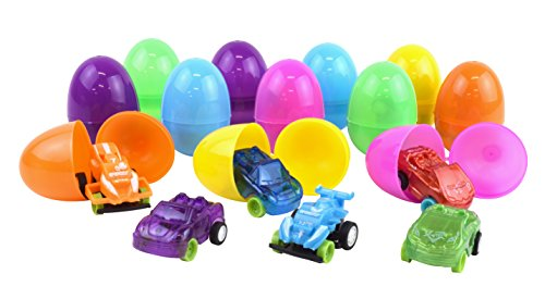 Kangaroo Easter Eggs with Toy Cars Inside (12-Pack)