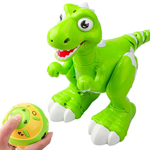 DX DA XIN Interactive Robot Dinosaur , Dancing, Music ,Walking , Spraying Mist Out of his Mouth Remote Control Toys Robotic Tyrannosaurus Rex, Gift for Children