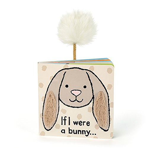 Jellycat Baby Touch and Feel Board Books, If I were a Bunny, Beige