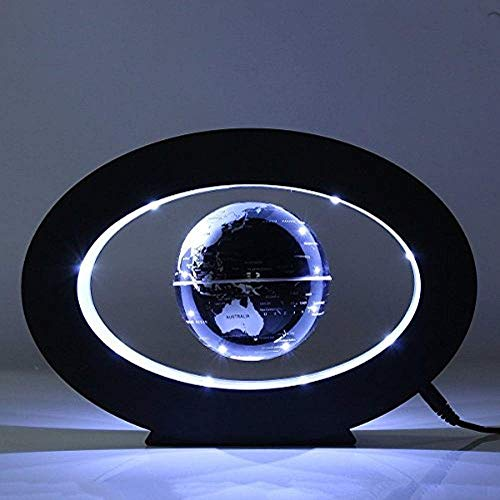 FUZADEL Floating Globes Levitating Globes Levitation Floating Globe Magnetic World Map Colorful LED Lamp