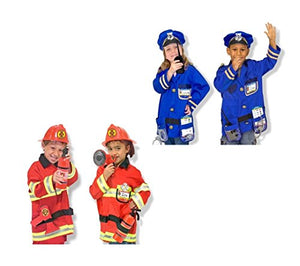 Melissa and Doug Fire Chief and Police Officer Costume Role Play Set