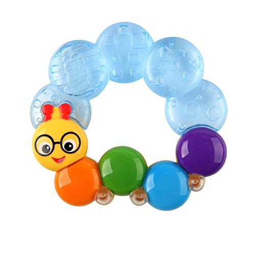 Baby Einstein Teether-pillar Rattle and Chill Teething Toy, Ages 3 months +