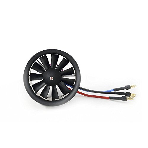 Powerfun EDF 50mm 11 Blades Ducted Fan with RC Brushless Motor 4900KV Balance Tested for EDF 3S RC Jet Airplane