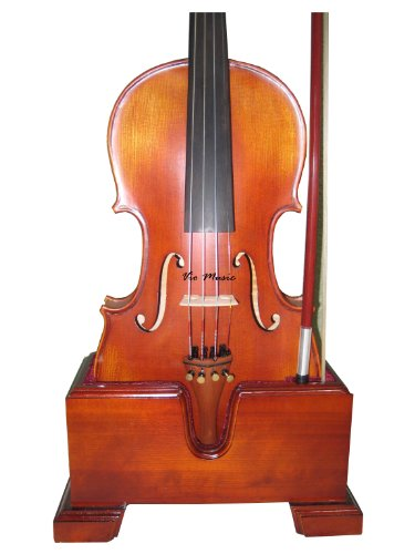 Vio Music#503 Violin and Bow Wooden Holder (Stand), Plush Velvet, Safe and Stronghold
