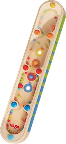 HABA Wooden Rainmaker Colors & Sounds - Double Sided Dexterity Toy with Optical & Acoustical Effects