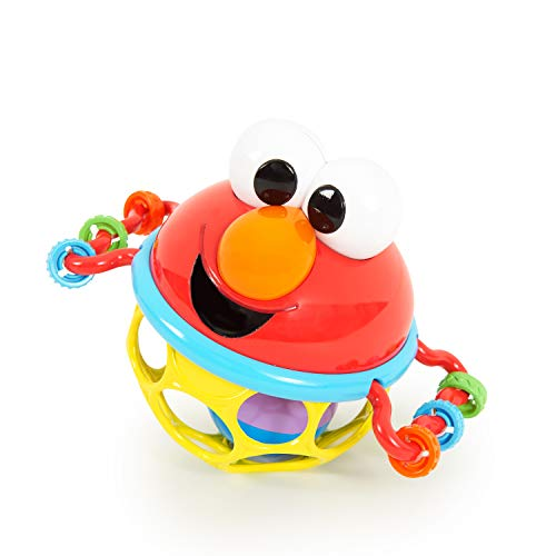 Bright Starts Sesame Street Jingle & Shake Elmo Easy Grasp Rattle, Ages 3-12 Months