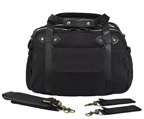 SoYoung Charlie Diaper Bag/Backpack - Unisex - Stylish Design - Changing Matt - Laptop Compartment - Bottle Pockets - Black