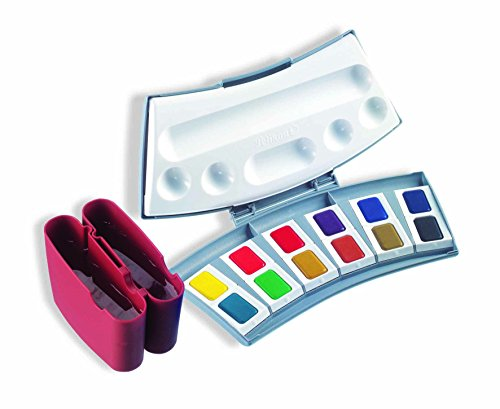 Pelikan Transparent Watercolor Paint Set, 12 Colors (721886)
