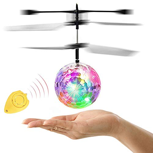 ZGWJ RC Flying Ball,Flying Ball Toys for Kids,Infrared Induction Helicopter Drone with Colorful Shinning LED Light and Remote Controller for Indoor and Outdoor Games,Best Gifts for Girls and Boys