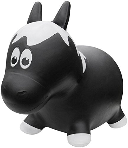 Farm Hoppers Award Winning Inflatable Bouncing Black Horse with Pump