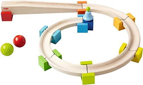 HABA My First Ball Track - Basic Pack 18 Piece Building Set (Made in Germany)