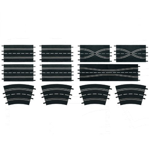 Carrera 1:24 Scale Track Extension Set - �Accessory Pack includes 12 Pieces - For Use With Digital 124, 132 and Evolution Carrera Slot Car Racetrack Systems