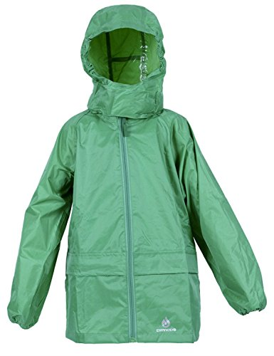 DRY KIDS - Packable Jacket 7-8 Yrs Green