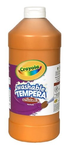 Crayola Washable Tempera Paint, Orange Paint Craft Supplies, 32 Ounce