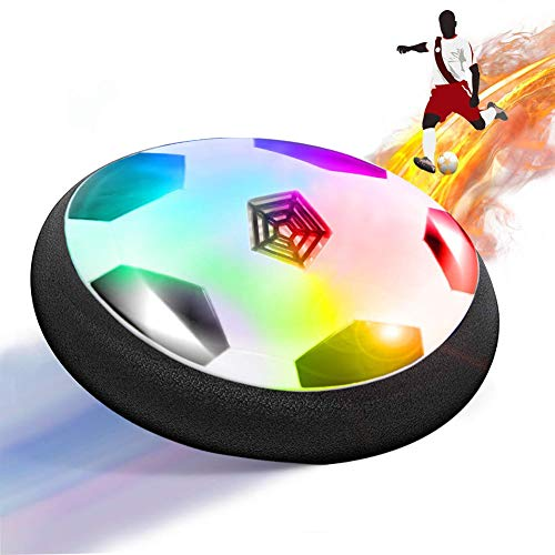 ThinkMax Hover Soccer Ball, Air Power Soccer with LED Light and Foam Bumper, Outdoor Indoor Kids Football Disk Toy
