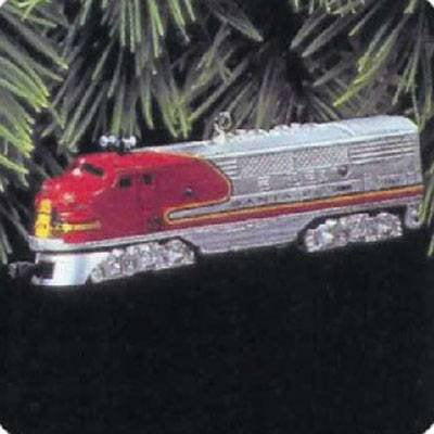 Hallmark QX6145 1950 Santa Fe F3 Locomotive Lionel Trains 2nd Keepsake Ornaments