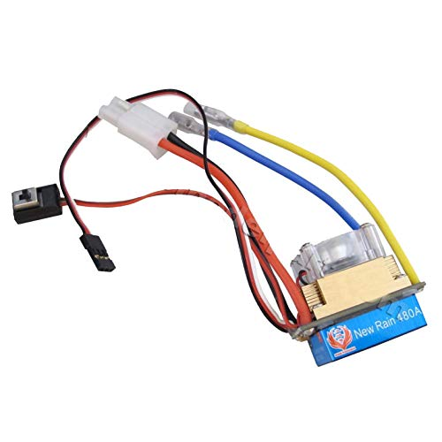 powerday 480A Three Mode Brushed Speed Controller ESC Regler for 1/10 1/8 Touring car,Buggy,Short Course Truck,Monster,truggy,rovk Crawler and Tank, Boat(Tamiya Plug)