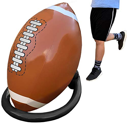 Island Genius Giant Inflatable Football and Tee - Party Decorations Sports Toys Games and Gifts for Kids Boys Girls and Adults