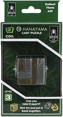 COIL Hanayama Cast Metal Brain Teaser Puzzle (Level 3)