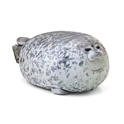 MerryXD Chubby Blob Seal Pillow,Stuffed Cotton Plush Animal Toy Cute Ocean Small(13 in)