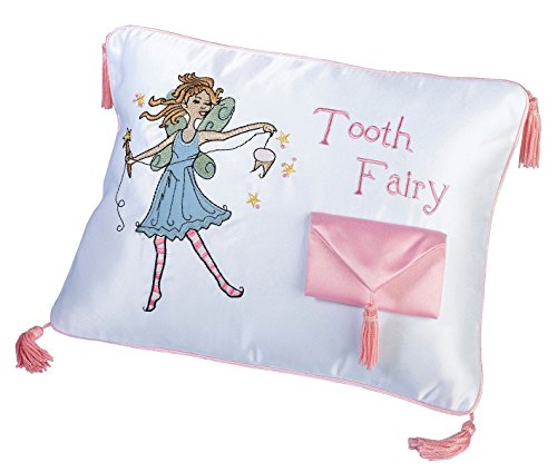Lillian Rose Tooth Fairy Embroidered Pillow, 11 x 8 inches