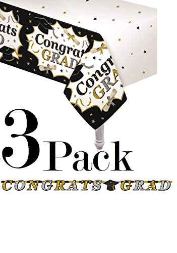 Oojami Pack of 3 Classic Graduation Tablecover 54