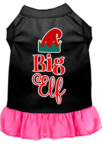 Mirage Pet Products Santa Baby Rhinestone 18-Inch Pet Dress, XX-Large, Black with Pink