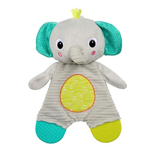Bright Starts Snuggle & Teethe Plush Teether - Elephant, Ages Newborn +
