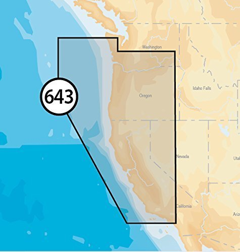 Navionics Platinum Plus 643P+ California and Oregon Marine Charts on SD/MSD