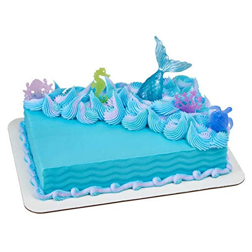 DecoPac 22856 MYSTICAL MERMAID Cake Topper for Birthdays and Parties, 1 SET, Mulitple