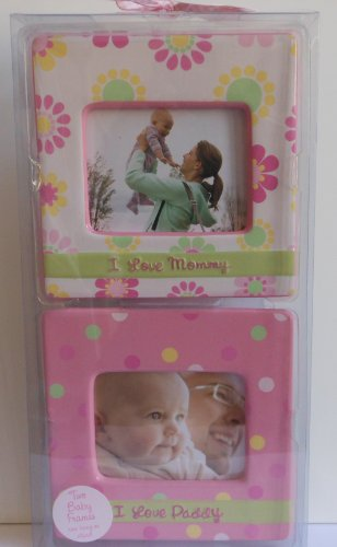 Baby Essentials Two Baby Photo Frames-Pink