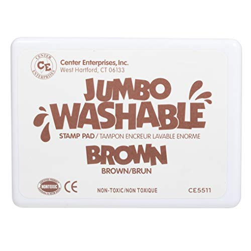 Center Enterprises Inc. Jumbo Washable Unscented Stamp Pad, Brown
