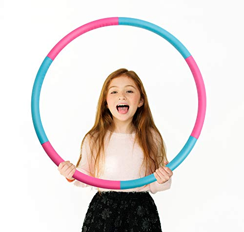 Beakabao Kids Hoola Hoop Set (6 Parts), Weight and Size Adjustable Detachable Sports Toys, Suitable for Fitness, Gymnastics, Dance, Games and Pet Training, 27 Inches