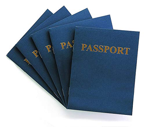 "Hygloss Products Blank Passport Book - Fun Pretend Activity for Kids - Great for Classrooms & Parties - Imaginary Travel - Little Travelers Pocket Journal - 24 Blank Pages - 4 ¼"" X 5 ½"" - Pack of 24 Books"